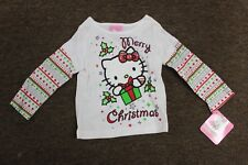 18M HELLO KITTY CHRISTMAS Girls Long-sleeve T-Shirt Sanrio Clothing Top Tee NEW