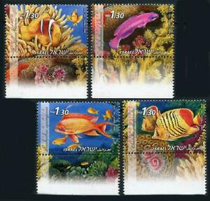 Israel: 2004 Fish of the Red Sea (1547-1550) With Tabs MNH
