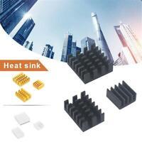 3PCS Aluminum Heat Sinks Pad Radiator Cooler Kit Tool for Raspberry Pi 4B