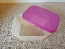 Tupperware Sheer Freezer Mates 3 Cup Container 2090 Purple Lid Seal 2088