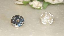 Rose Shape 12mm Acrylic Cream Pearl & S/P Tie/Cravat/Scrunchie/Scarf Pin-Formal