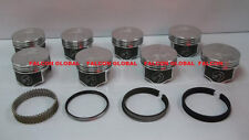 Speed Pro/TRW Oldsmobile/Olds 350 W31 Forged Flat Top Pistons+MOLY Ring Kit STD
