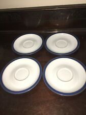 DENBY IMPERIAL BLUE - 4 x SAUCERS Spare Vgc!