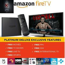 AMAZON FIRE TV BOX 4K ULTRA HD WITH ALEXA  & K0di17.3 Jalbr0ken