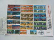 Sammlung UNO Wien Einschreiben Reko FDC Australia Australien Briefmarken