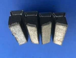 NEW OLD STOCK 4 X VINTAGE BRAKE BLOCKS & SHOES,WITH LEATHER INSERT FOR STEEL RIM