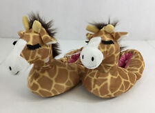 Giraffe Slippers Girls Boys Small Medium 13-2 Shoes Plush Big Head Pink New