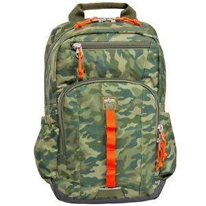 """STM Trestle 13"""" 14 inch Laptop Bag Travel Backpack Rucksack Macbook Green Camo"""