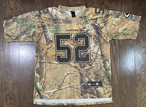 Clay Matthews 52 Green Bay Packers NFL Football Jersey Mens Large Camo Hunting