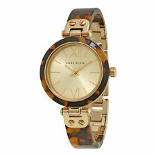 Brand NEW - Anne Klein Women's Gold-Tone Tortoise Shell Plastic Bracelet Watch