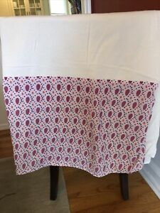 Anthropologie Daydreamer Bedskirt Full Coral Pink