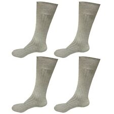4pair Mens Comfortable Cotton Casual Classic Crew Dress Socks Over the Calf 9-13