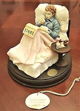 """Figurine NORMAN ROCKWELL Inspired  """"THE MISSED DANCE"""" by Islandia 5"""" Tag Resin"""