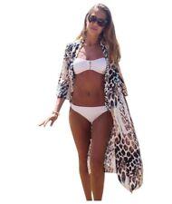 Womens Kimono Beach Bikini Swimwear Sheer Cover
