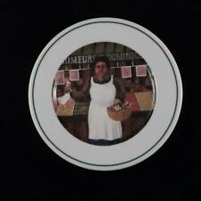 Guy Buffet L'Etalage Collection Plate Shopkeepers The Vegetable Lady Porcelain