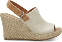 TOMS Women's 10011843 Monica Natural Leather Footwear Wedge Heels Casual Sandals