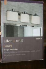 allen + roth Robley 3-Light Chrome Modern/Contemporary Vanity Light