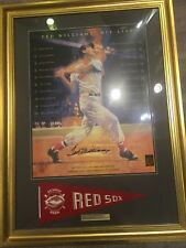 Ted Williams Signed Autograph Auto 24x28 Framed Photo Green Diamond Certified
