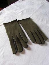 gants vintage cuir et laine tissée 8,5