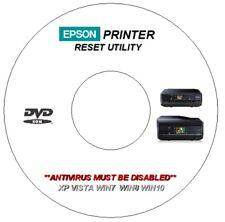 EPSON XP-800 850 WASTE INK ERROR COUNTER PAD RESET REPAIR DVD WINDOWS 7 8 10