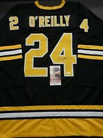 Terry O'Reilly Boston Bruins Autographed Signed Black Style Jersey XL coa-JSA