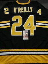 Terry O'Reilly Boston Bruins Autographed Signed Black Style Jersey XL coa-JSA-