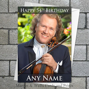 Andre Rieu birthday card. 5x7 inches. Classical. Personalised plus envelope.