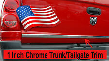 """For GMC Vehicle 2003-2018 - 1""""Wide Chrome Tailgate Trunk Molding Strip Trim Kit"""