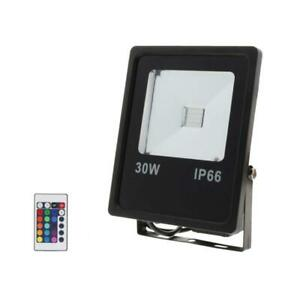 Projecteur LED RGB 30W Extérieur IP66 Plat NOIR - Noir - SILAMP