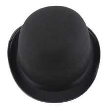 Fashion Felt Top Hat BLACK Hard Costume Hawkins Mad Hatter Magician Steampunk
