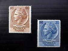 ITALY 1954 - 100L & 200L SG845/6 U/M FP9845