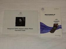 MERCEDES BENZ MOTOROLA STARTAC CELLULAR PHONE MANUAL 1999 ST7700 SERIES