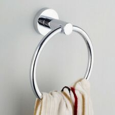 Stainless Steel Towel Ring Holder Hanger Chrome Wall Mounted Bathroom Home Hotel
