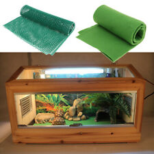2 Pcs Green Carpet Liner Pad Cage Mat for Fish Tank Reptiles Turtles Lizards