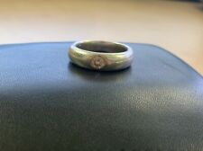 Pure Sterling Silver with CZ stone wedding band size 9
