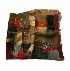 "Vintage Handmade Patchwork Textile Pillowcase 17"" X 17"""
