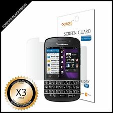 BlackBerry Q10 Screen Protector 3x Anti-Scratch Clear Guard