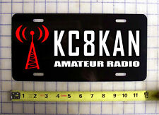 AMATEUR HAM RADIO CUSTOM CALL SIGN LICENSE PLATE
