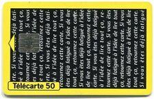 TELECARTE 50   LABORATOIRE OBERLIN   PLENYL