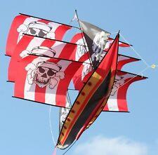 Kinderdrachen 3D Piratenschiff 170x67cm Flug-Drachen 3-dimensional Schiff Pirat