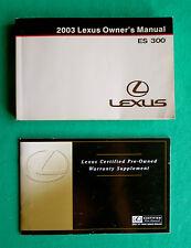 2003 03 Lexus ES 300 Owners Manual   B14