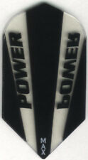 Black and Clear POWER MAX Slim Dart Flights: 150 Microns Thick: 3 per set