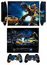 Skin Sticker PS3 PlayStation 3 Super Slim & 2 controller skins Transformers Q003