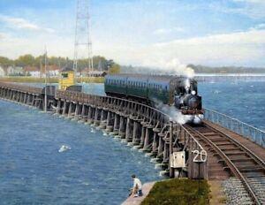 "Railway print ""Hayling Billy"" Hayling Island by Cris Woods"