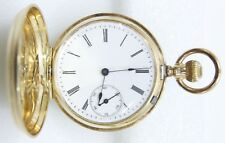 1888 Circa Antique 14kt Gold Hunting Case Pocket Watch Georges Roulet No. 88742