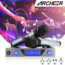 ARCHEER UHF Wireless Microphone System LCD Display + Dual Handheld Mic KTV NEW+
