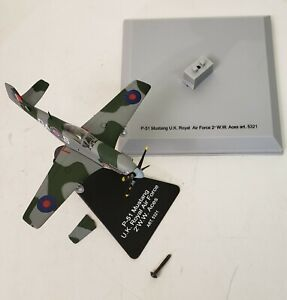 Metal Armour Diecast Plane P-51 Mustang U.K. RAF 1:100 with stand No. 5321
