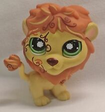 Littlest Pet Shop Brown Yellow Postcard LION Green Eyes and Tattoos