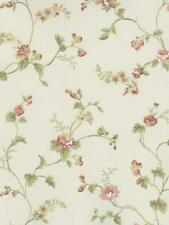 Wallpaper Cottage Mini Rose Trail Floral Vine on Cream Background