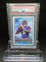 🔥2018 Panini Donruss Optic LAMAR JACKSON Rated Rookie RC #167 PSA 10 GEM MT📈🔥